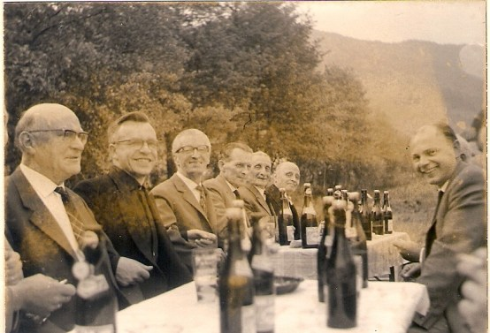 Gemütliches Beisammensein 1964 in der Nassens Mühle