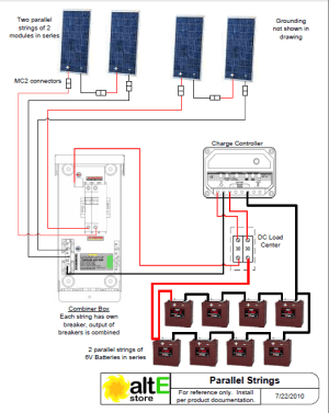 Schematic: Wiring Solar Panels in Series and Parallel | altE