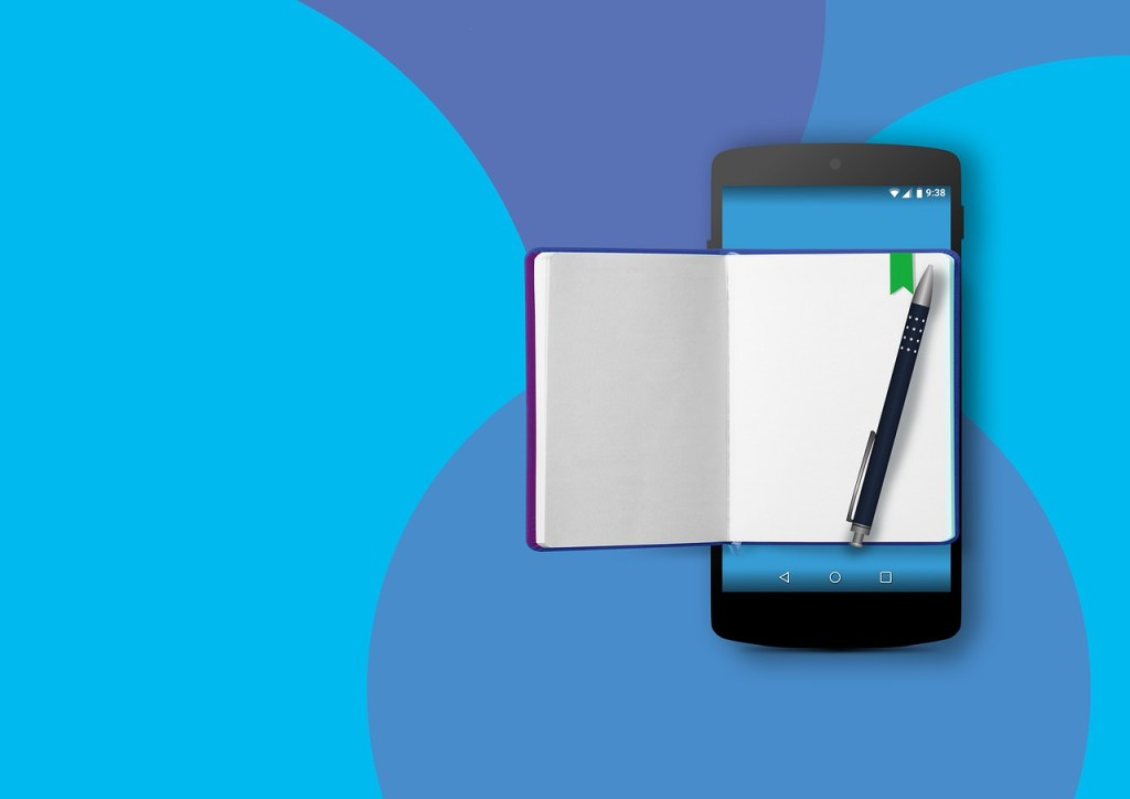 mobile phone, note, to do list