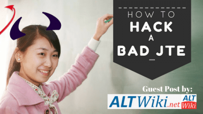 How to Hack Your JTE, Guest post by ALTWiki.net!