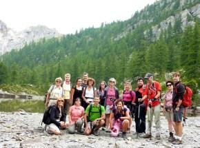 Le groupe devant le Lac Vert
