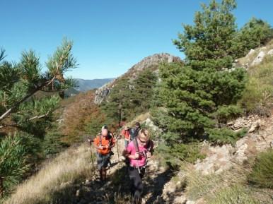 Altiplus, Club randonnée dans la 06, 29 octobre 2016 : le Gramondo;derniere effort avant le sommet