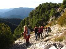 Club Randonnée dans le 06, Altiplus, 4 décembre 2016 : Le Brec d'Utelle, en allant au Sommet
