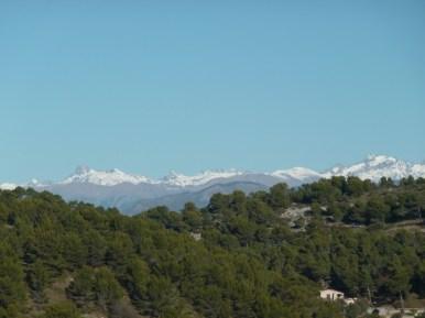 ALTI+ Club Randonne dans le 06 - Le Mont Bastide (rando écolo) 18/12/2016 vue sur le Mercantour