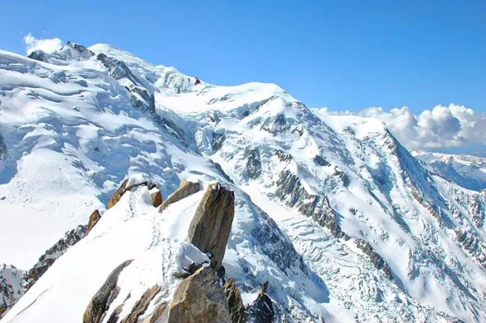 Il fait chaud sur le massif du Mont Blanc
