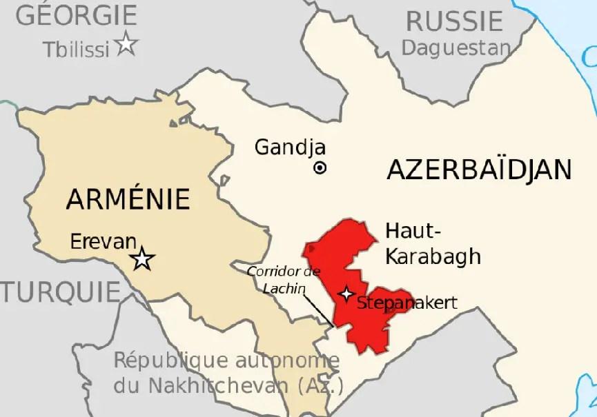 Carte Haut Karabagh