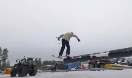 skis et tracteur