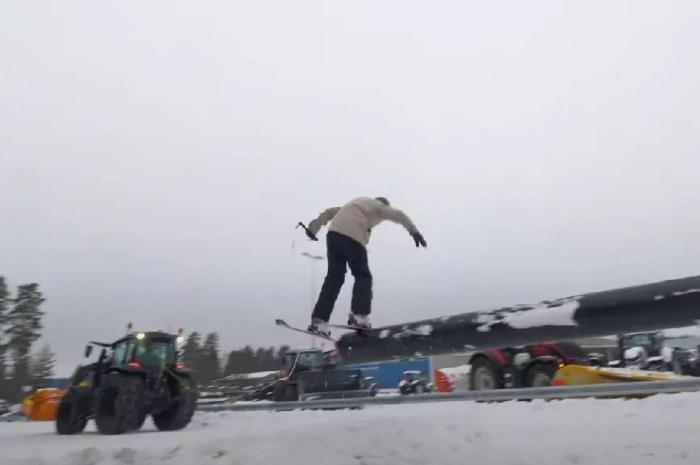 Un tracteur, des skis : des dizaines de possibilités pour un Finlandais !