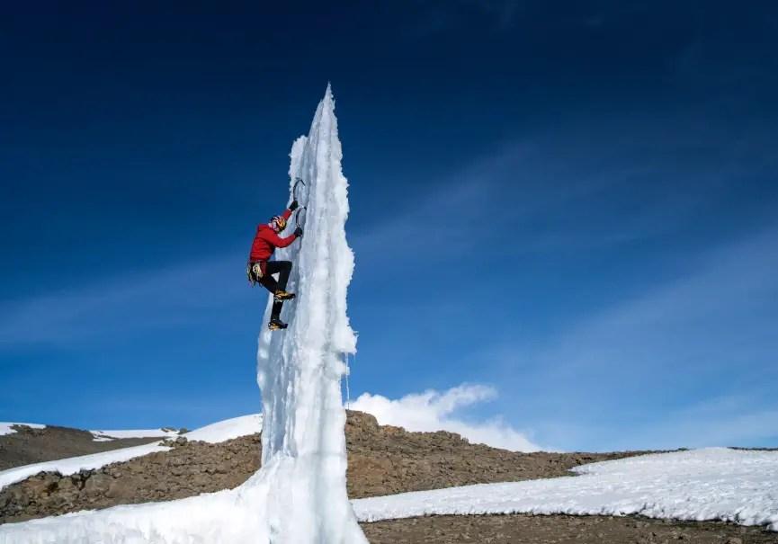 Will Gadd sur le Kilimandjaro