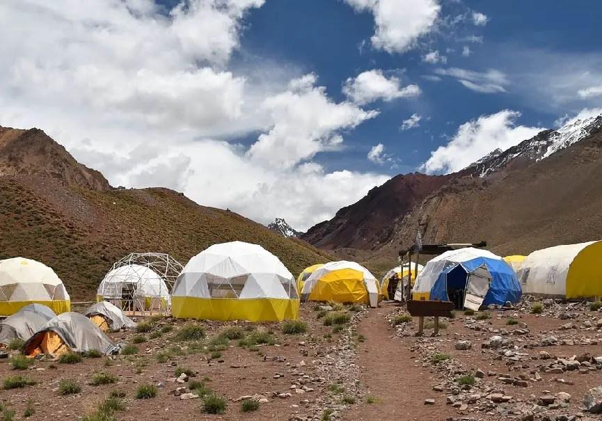 Camp d'altitude à l'Aconcagua