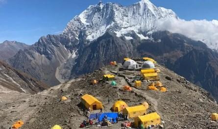 Camp de base du Manaslu, automne 2020