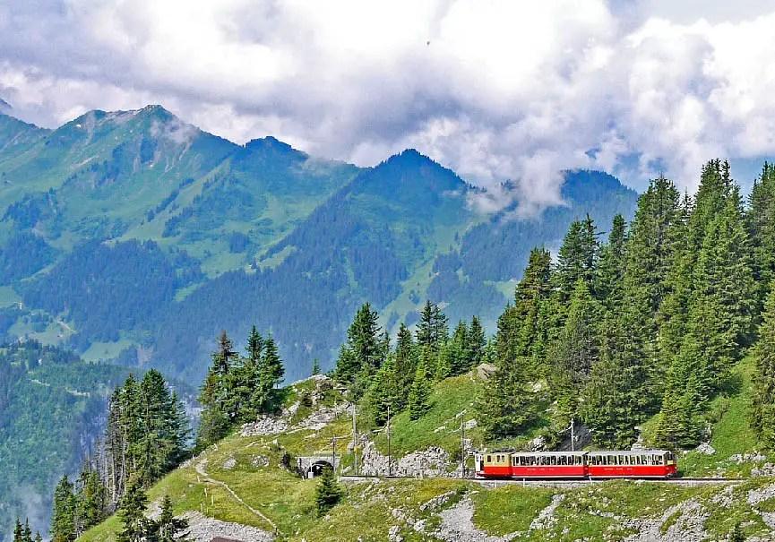 Tour des Alpes en train