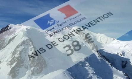 Contravention Mont Blanc