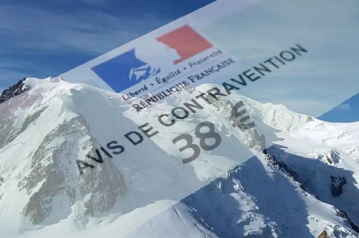 38 Euros d'amende pour un atterrissage dans le Massif du Mont-Blanc