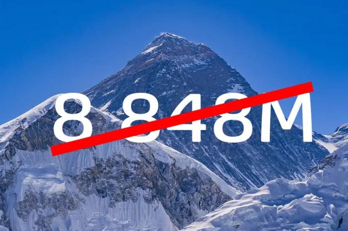 L'Everest a une nouvelle altitude : 8.848,86 mètres !