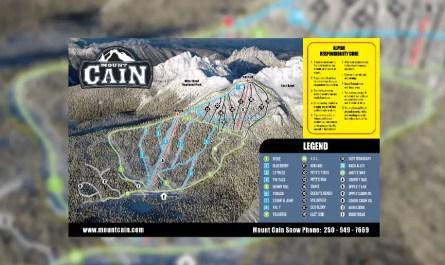 Plan des pistes Mount Cain