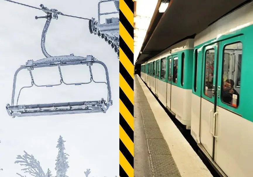 télésiège vs métro