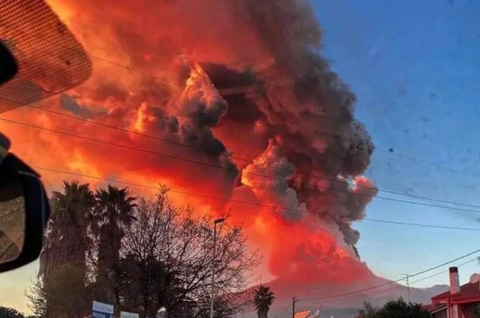 Février 2021 : les photos du volcan Etna en éruption !