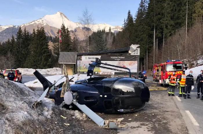 L'hélicoptère s'écrase au décollage en Haute-Savoie, un bilan miraculeux !