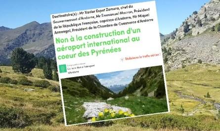 Aéroport Andorre pétition