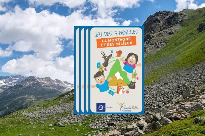 Cadeau confinement : le jeu des 7 familles « la montagne et ses milieux »