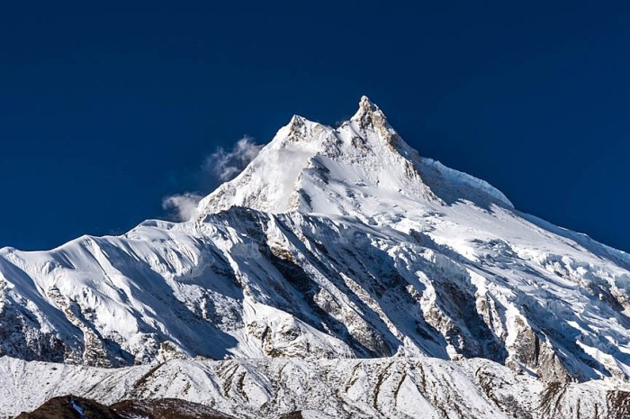 A quoi ressemble le vrai sommet du Manaslu à 8.163m d'altitude ?