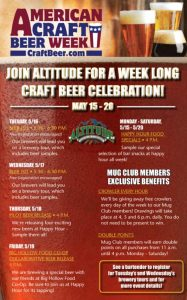 Craft Beer Week at Altitude Chophouse