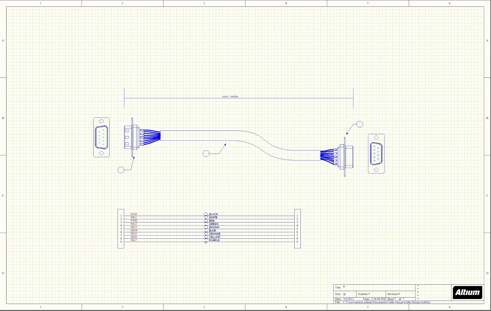 How To Use Schematic Cad Drawings For Cable Assemblies Part 4