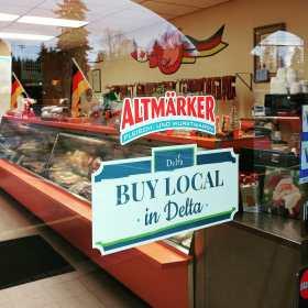 "Sign ""Buy Local in Delta"""