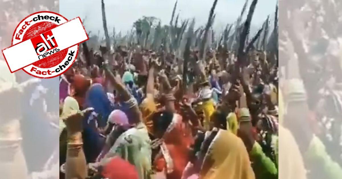 पुराना वीडियो, शाहीन बाग़ में मुस्लिम महिलाओं के सामने तलवार लेकर खड़ी राजपूत महिलाएं के दावे से वायरल