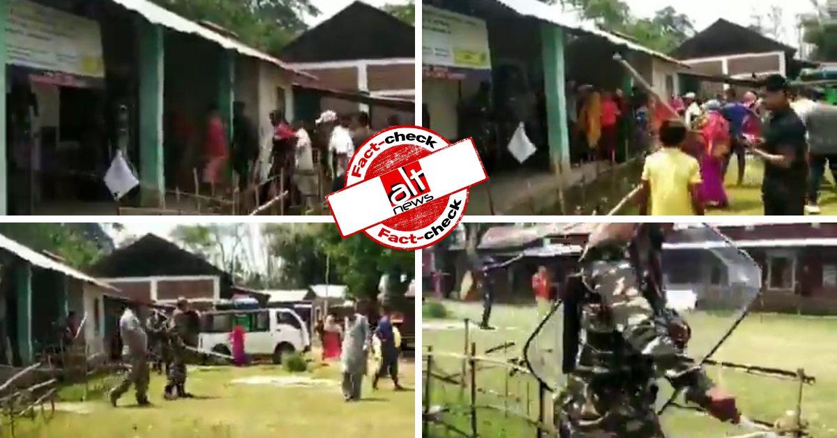 2019 में मणिपुर के पोलिंग बूथ में हुई हिंसा का वीडियो पश्चिम बंगाल चुनाव से जोड़कर शेयर