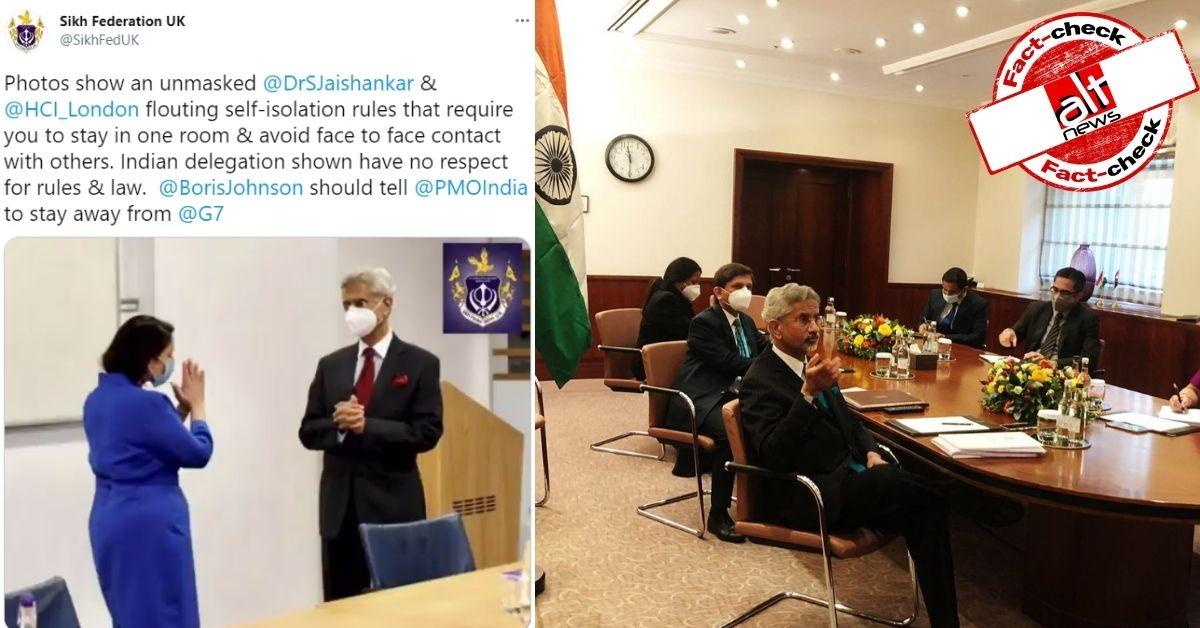 फ़ैक्ट-चेक : विदेश मंत्री एस जयशंकर COVID संक्रमित होने के बावजूद G7 प्रतिनिधियों से मिले?