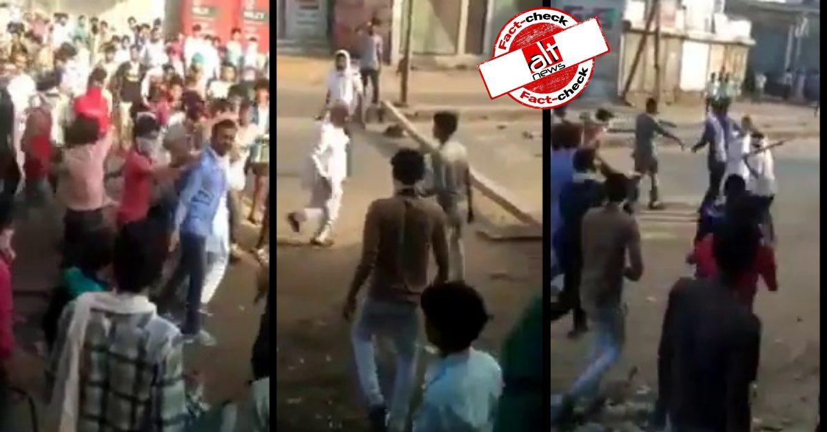 फ़ैक्ट-चेक : राजस्थान में भगवा झंडा उतारने पर रामकेश मीणा की भीड़ ने की पिटाई?