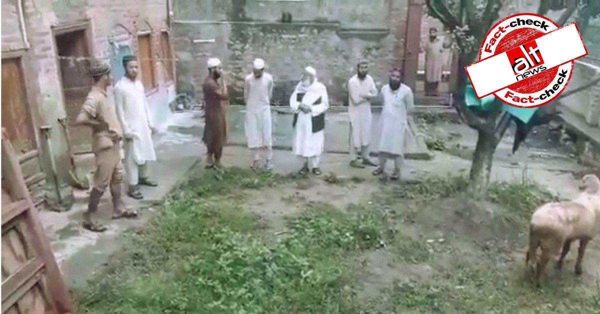 कश्मीरी मुस्लिम व्यक्ति ने घर के पास बलि देने पर ऐतराज़ जताया, वीडियो सांप्रदायिक दावे के साथ वायरल