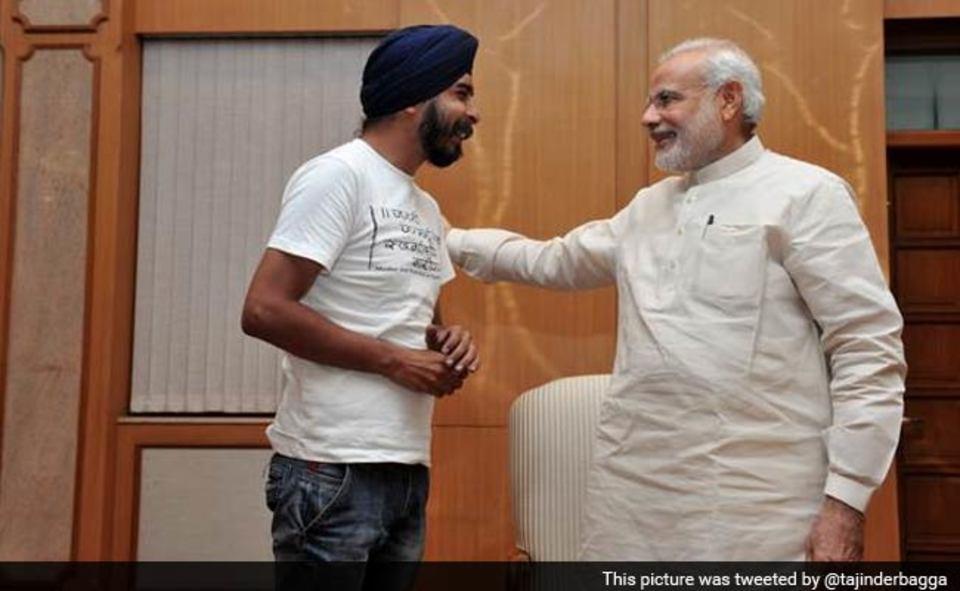 Tajinder Bagga in PMO with Modi