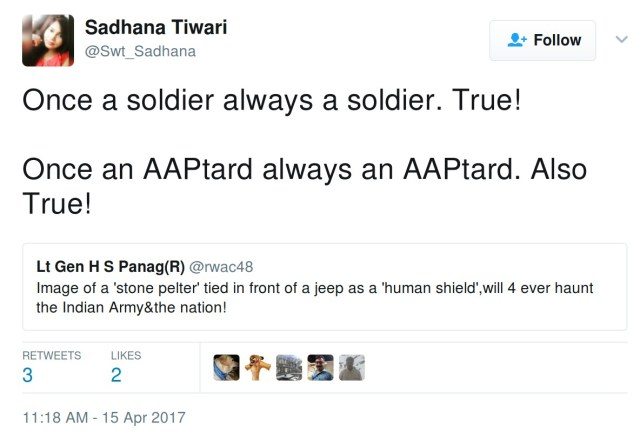 Once a soldier always a soldier. True! Once an AAPtard always an AAPtard. Also True!