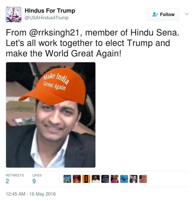 Ravi Singh HIndus For Trump