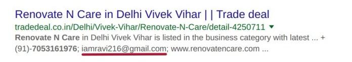 Ravi Singh Email address