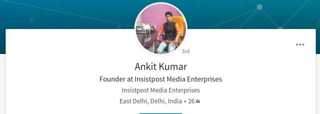 Ankit Pandey LinkedIn Profile