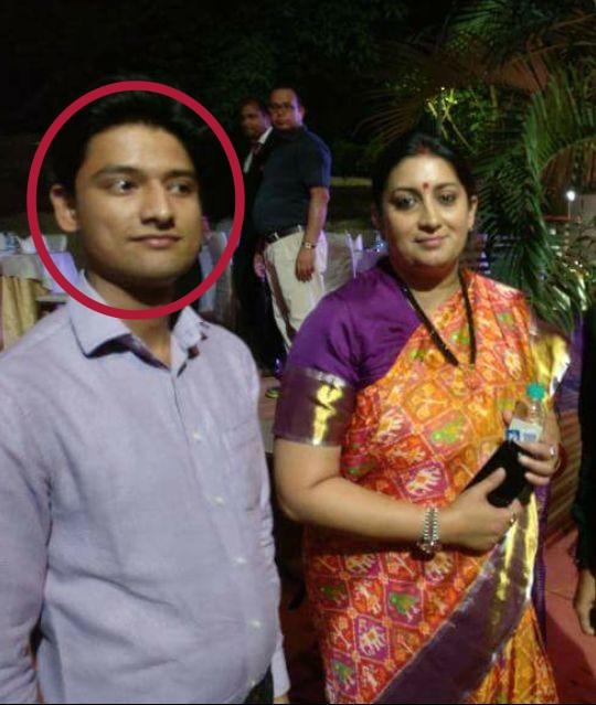 Ankit Pandey with Smriti Irani