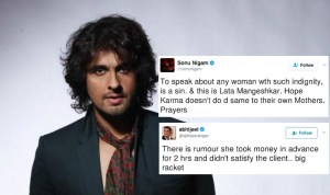 Sonu Nigam's tweet for Lata and Abhijeet