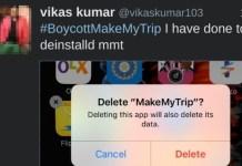 Vikar Kumar: #BoycottMakeMyTrip I have done to deinstalld makemytrip