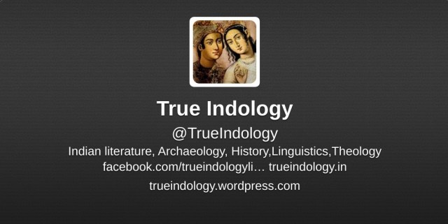 TrueIndology Twitter account