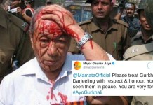 Major Gaurav Arya fake image gjm clash west bengal