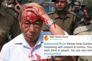 Major Gaurav Arya fake image gjm clash west bengal