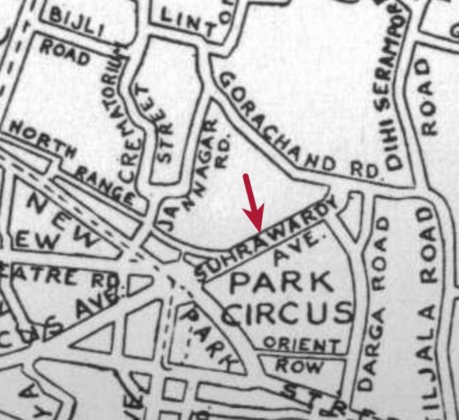 1940 map suhrawardy avenue