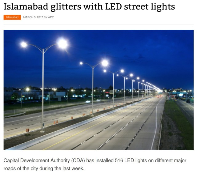 pakistan islamabad street lighting picture