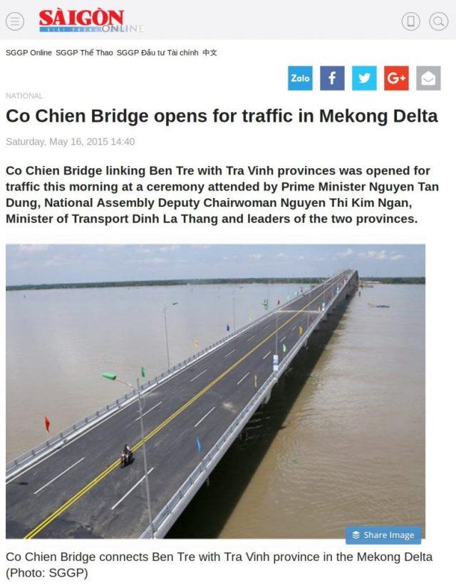 Co Chien Bridge Mekong Vietnam