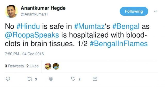 No Hindu is safe in Mumtaz's Bengal