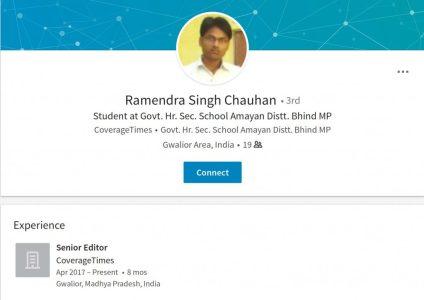 Ramendra Singh Chauhan LinkedIN